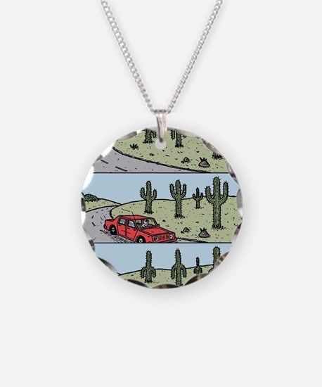 Cacti arms Necklace Circle Charm