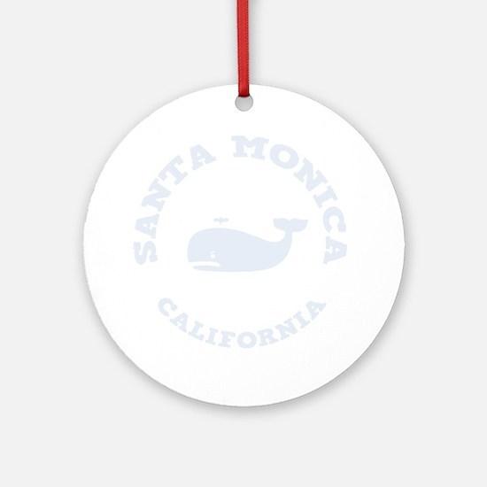 souv-whale-sm-ca-DKT Round Ornament