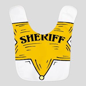 SHERIFF BADGE black Bib