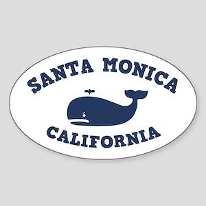 souv-whale-sm-ca-CAP Sticker (Oval)