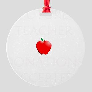 Future Teacher Round Ornament