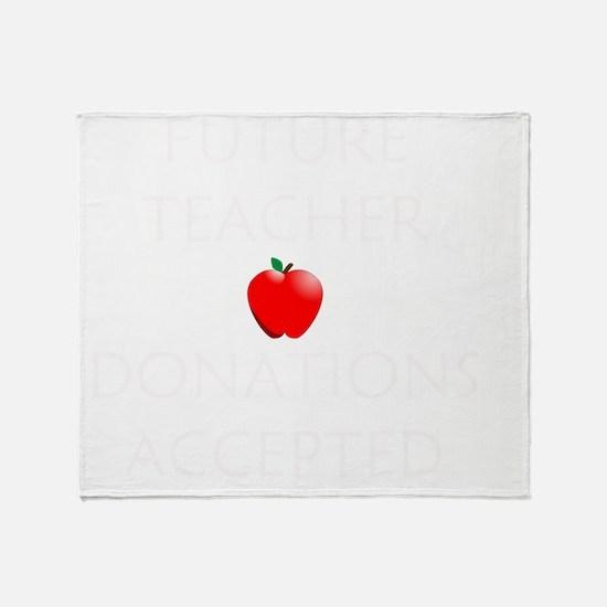 Future Teacher Throw Blanket