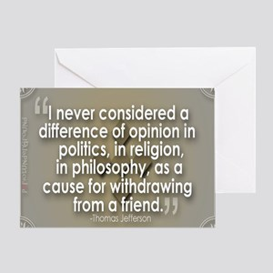 A difference of opinion... Greeting Card