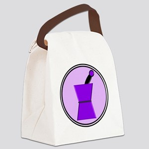 pest and mort purple Canvas Lunch Bag