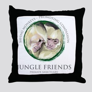 jungle_friends Throw Pillow