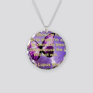 Lupus Warrior Necklace Circle Charm