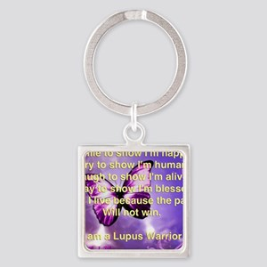 Lupus Warrior Square Keychain