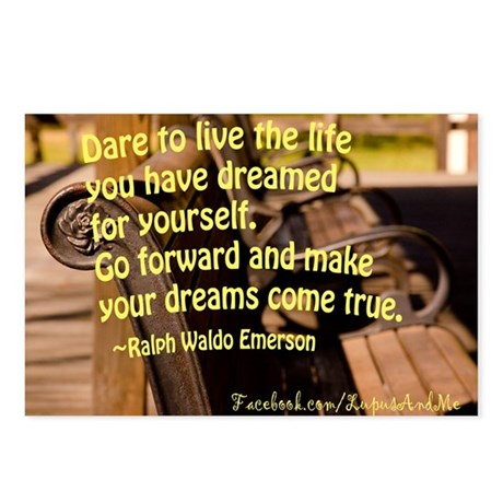 Emerson quote Postcards (Package of 8)