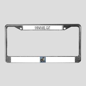 Snowshoe Cat License Plate Frame