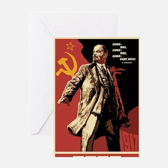 Soviet vintage Propaganda Greeting Card
