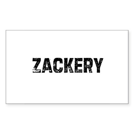 Zackery Rectangle Sticker