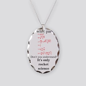Rocket Science Necklace Oval Charm