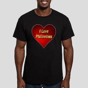 I Love Philippines Men's Fitted T-Shirt (dark)