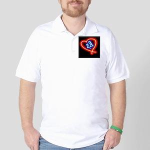 Second Amendment Love Golf Shirt
