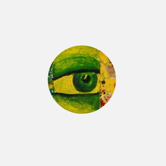 Golden Emerald Eye from Conundrum I Mini Button