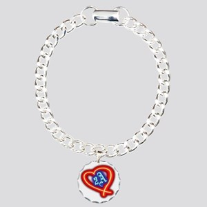 Second Amendment Love Charm Bracelet, One Charm
