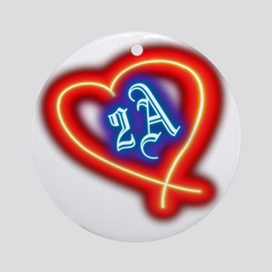 Second Amendment Love Round Ornament