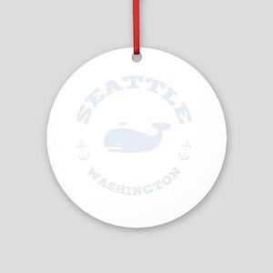 souv-whale-seattle-DKT Round Ornament