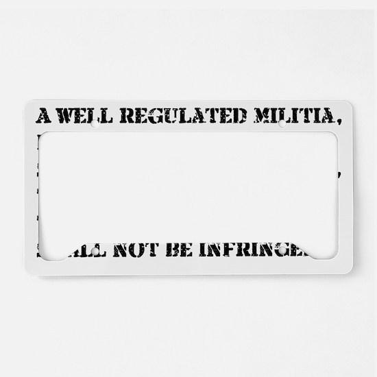 2nd  Amendment License Plate Holder