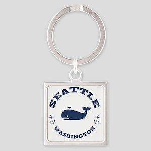 souv-whale-seattle-LTT Square Keychain