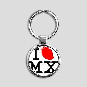 CLASIC!! ''I HEART MEXICO TEE... Round Keychain