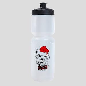 westie santa Sports Bottle