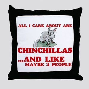 All I care about are Chinchillas Throw Pillow