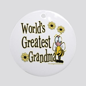 Grandma Bumble Bee Ornament (Round)