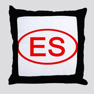 ES Oval (Red) Throw Pillow