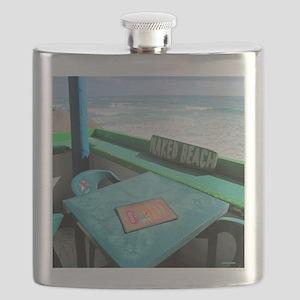 Naked Beach Cozumel Seashore Flask
