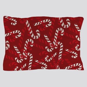 Christmas Candy Cane Gift Red Pillow Case