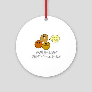 MRSA Ornament (Round)