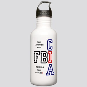 FBI - CIA - THE LUNATI Stainless Water Bottle 1.0L