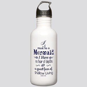 I Must Be A Mermaid Qu Stainless Water Bottle 1.0L