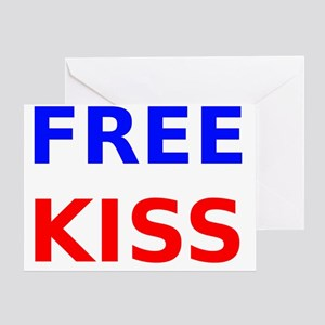 Free Kiss Greeting Card