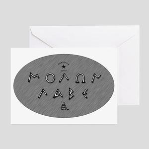 Molon Labe - Silver Script Greeting Card