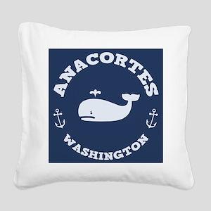 souv-whale-anacor-BUT Square Canvas Pillow