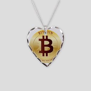 bitcoin 5 Necklace Heart Charm