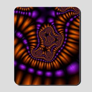 Orange and Purple Fractal Mousepad