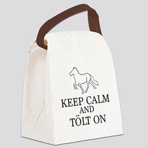 Keep Calm and Tolt On Canvas Lunch Bag