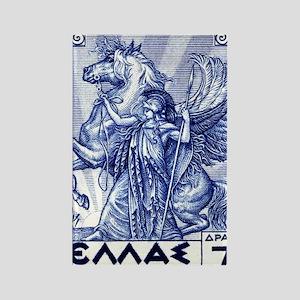 Antique 1935 Greece Pallas Athena Rectangle Magnet
