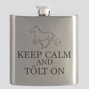 Keep Calm and Tolt On Flask