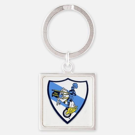 Blue Knights Logo Square Keychain