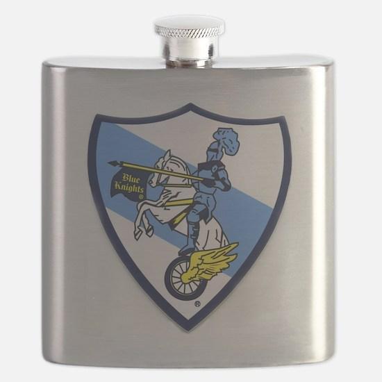 Blue Knights Logo Flask