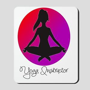 yoga instructor 3 Mousepad
