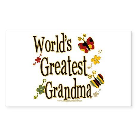 Grandma Butterflies Rectangle Sticker