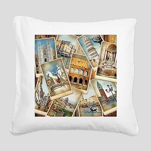 showercurtain684 Square Canvas Pillow