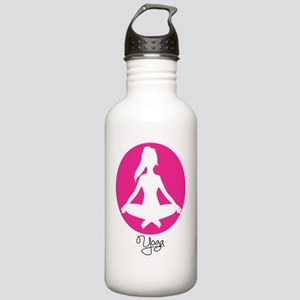 yoga 22 pink white Stainless Water Bottle 1.0L