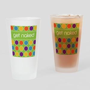 Green Multi dot 2 Drinking Glass