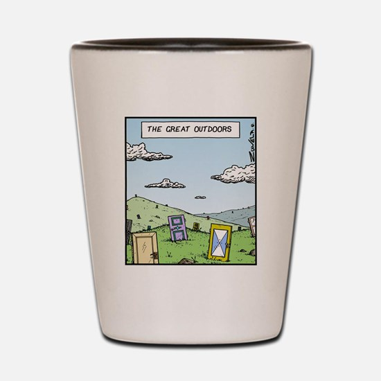 The Great outdoors Shot Glass